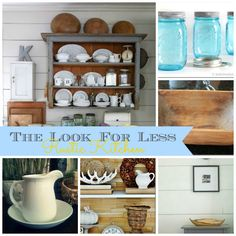 DIY Home Ideas | Find the links to five tutorials to help you get the look of this rustic kitchen for less!