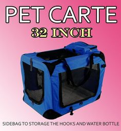 New Large Dog Pet Puppy Portable Foldable Soft Crate Playpen Kennel House - Blue -- Insider's special review you can't miss. Read more  : Dog kennels