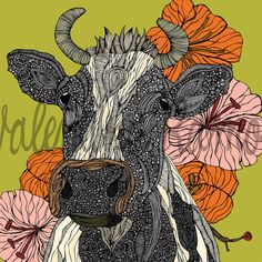 Moooo++The+Cow++8x10+print+by+valentinadesign+on+Etsy,+$15.00