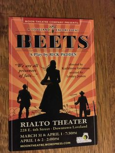 BEETS is an historical-based play about a World War II POW camp near Greeley. They worked in the sugar beet fields during the war. Lesley Jones, Rialto Theater, Sugar Beet, 4th Street, Beets, World War Ii, Fields, Colorado, Play