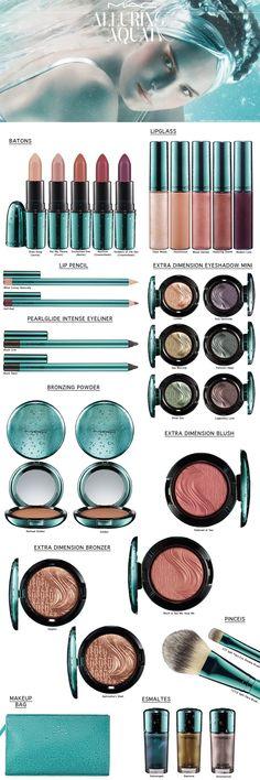 MAC ALLURING AQUA COLLECTION - Coleção muito usável, que eu tenho e amo. #Ageless #jeunesse #mac #makeup #makeups #maquiagem  #maquiagens