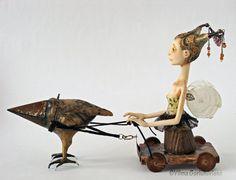 OOAK Art doll The winged chariot by VilmaDollsHouse on Etsy, €210.92