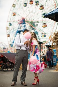 We're loving just how fun and creative this engagement shoot turned out at Luna Park and Deno's Wonder Wheel Park in Coney Island, New Jersey. If you need some out of the box ideas, check this out and be sure to save your favs for later. Fair Photography, Couple Photography, Engagement Photography, Wedding Photography, Engagement Pictures, Engagement Shoots, Country Engagement, Fall Engagement, Carnival Photo Shoots