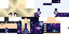 I found you a skin! Minecraft Skins Galaxy, Hd Minecraft, Minecraft Skins Female, Skins For Minecraft Pe, Minecraft Houses, Skin Minecraft Fille, Galaxy Drawings, Close Up Art, Aphmau Fan Art