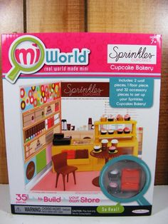 Sprinkles Cupcakes MiWorld Mi World Real World Playset