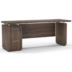 Sterling Credenza Desk with File/File Single Pedestal | Wayfair