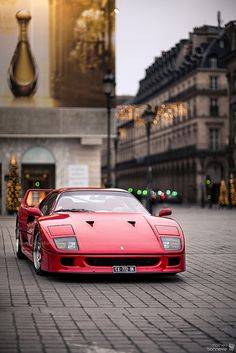 Ferrari F40. See more cool stuffs here - http://goo.gl/Q0nEhu