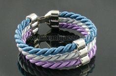 Satin twisted rope bracelet