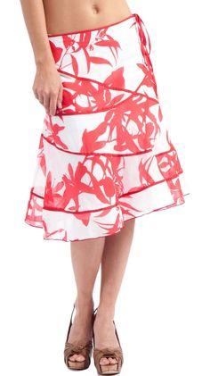 Printed Silk Voile Swirly Skirt