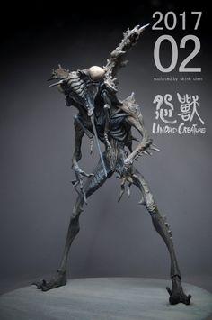 Embedded Alien Concept Art, Creature Concept Art, Creature Design, Cool Monsters, Horror Monsters, Alien Creatures, Fantasy Creatures, Art Nouveau, Demon Art