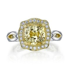 Katharine James Fancy Yellow Diamond Ring