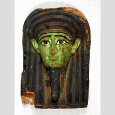 Mask fragment from a coffin cover. Egyptian. 716-30 BCE. The Nasher Collection
