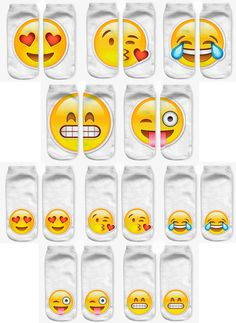 Your new favorite emoji socks, how cute? | emoji costume | Funny socks | Fyndiq |
