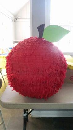 Snow White Party Ideas-Snow White apple piñata