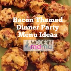 I love a good theme party and Summer is a great time to get together with friends and family. Dinner Party Menu, Dinner Themes, Dinner Club, Dinner Dessert, Supper Club, Bacon Crack, Bbq Bacon, Bacon Wrapped Chicken Bites, Tasty Bites