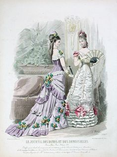 Fashion Prints from Journal Des Dames et Des Demoiselles, 1874-78