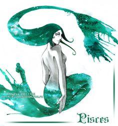 Aquarius Pisces Art | Grandes Artistas: Maevachan y sus Ilustraciones en Tinta