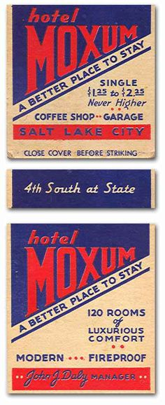 Moxum #matches. To order your business' own branded #matchbooks or #matchboxes. GoTo GetMatches.com or call 800.605.7331 to get your placed Today!