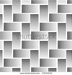 Vector geometric seamless pattern. Repeating abstract gradation in black and white. Modern halftone design.