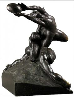 Rugby e mito di Olimpia: Joueurs de foot-ball di Duchamp-Villon Association Football, Rouen, Football Players, Rugby, Painting & Drawing, Sculpting, Museum, Statue, Drawings