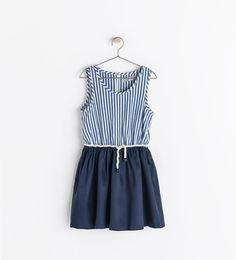 COMBINATION STRIPED DRESS from Zara