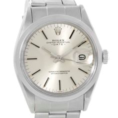 Rolex Date Vintage Mens Stainless Steel Silver Dial Watch 1500