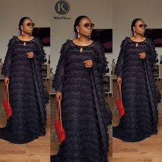 Boldly stepping into this week with the right Attitude and a heart of Thanksgiving. Ruby Kaftan in black😍 available to… Latest African Fashion Dresses, African Dresses For Women, African Attire, African Wear, African Inspired Clothing, African Print Clothing, African Print Fashion, Afro, Trendy Ankara Styles