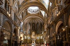 Photograph Inside the Bascillica at Montserrat, Spain by David Bacon on 500px