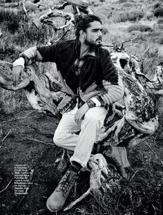 Marlon Teixeira is a Mountain Man for L'Officiel Hommes Brazil