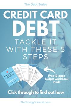 Credit card debt can seem insurmountable. Tackle your credit card debt with these 5 strategies. Credit Card Hacks, Credit Cards, Pay Yourself First, Managing Your Money, Investing Money, Budgeting Tips, Money Management, Money Saving Tips, Personal Finance