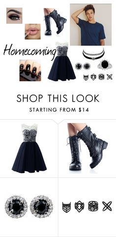 """Homecoming"" by rac-ren on Polyvore featuring Charlotte Russe, Topshop, combatboots, Homecoming and CameronDallas"