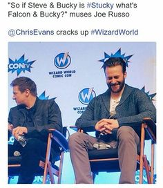 Chris cracking up. >>> First I was like 'Balcon' and then I went…