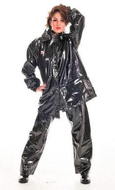 Shiny Pvc and Plastic Pvc U Like, Black Mac, Black Raincoat, Vinyl Raincoat, Vinyl Clothing, Rain Suit, Plastic Pants, Pvc Coat, Rain Wear