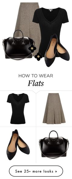 """Professional Wardrobe for All Ages Outfit: 42"" by vanessa-bohlmann on Polyvore featuring Viyella, James Perse, Wet Seal, Givenchy and Tory Burch"
