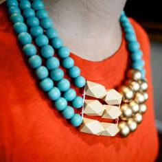 Irene Wood's Creates Chunky Jewelry Fit for Modern Princesses #necklace #jewelry trendhunter.com