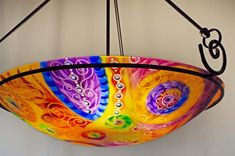 Painted Chandelier by artist Jenny Floravita Painted Chandelier, Chandelier For Sale, Light Art, Decorative Bowls, Abstract Art, Hand Painted, Artist, Inspiration, Beautiful