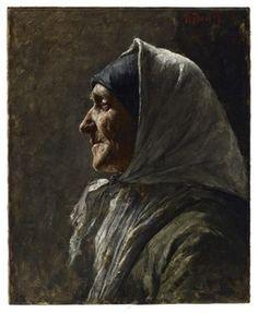 Study Head (Old Woman) William J. Forsyth (American, 1854-1935)