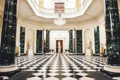 The central hall at Mount Stewart in County Down Northern Ireland [24001597] Photographed by Elaine Hill