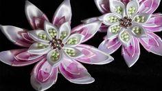 Цветы Канзаши Лотос / Кувшинка Канзаши /kanzashir lotus flower