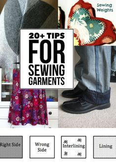 Take your garments to the next level with these easy sewing tips. Whether you need to make alterations, sew from a pattern or create a garment from scratch, you'll find useful tips and ideas here to help you get a better finish on your clothing sewing pro Diy Clothing, Sewing Clothes, Clothing Patterns, Sewing Patterns, Barbie Clothes, Dress Patterns, Sewing Hacks, Sewing Tutorials, Sewing Crafts