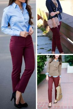 1eb90935627 28 Best Burgundy pants outfit images