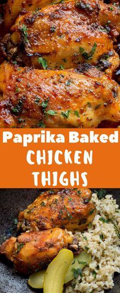 Baked Bone In Chicken, Bone In Chicken Recipes, Chicken Thigh Recipes Oven, Grilled Chicken Thighs, Oven Baked Chicken, Grilled Chicken Recipes, Oven Recipes, Kitchen Recipes, Grilling Recipes