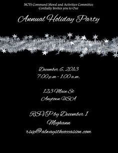 Garland Holiday Invitations or Cards. These can be customized for any occasion