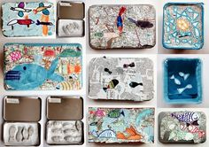 les petites têtes de l'art: Boites de sardines