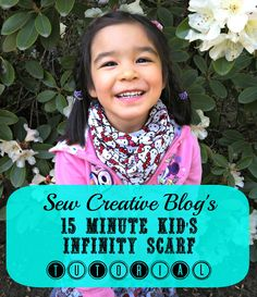10 Minute Children's Infinity Scarf Sewing Tutorial and Pattern Tons of Photos and Clear Instructions Great Beginner Project
