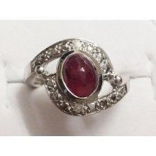3.500 Grms Designer Cabochon Ruby Ring