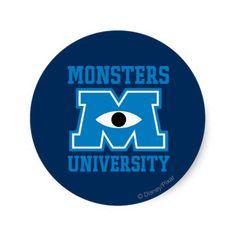 Monsters University Blue Logo Sticker