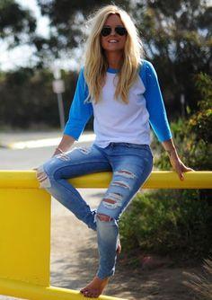 Sofi Fahrman Jeans Blue shirt