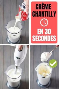 Comment Faire De la Crème Chantilly Maison En 30 Secondes Chrono The recipe of the cream chantilly ultra easy and fast in 30 seconds chrono Mousse, Cake Recipes, Dessert Recipes, Desserts With Biscuits, Recipes With Whipping Cream, Homemade Whipped Cream, Coffee Plant, Vegetable Drinks, Cata