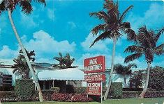 Fort Lauderdale Florida~Jack Valentines Art Deco Cafe~Food and Ice Show~1954